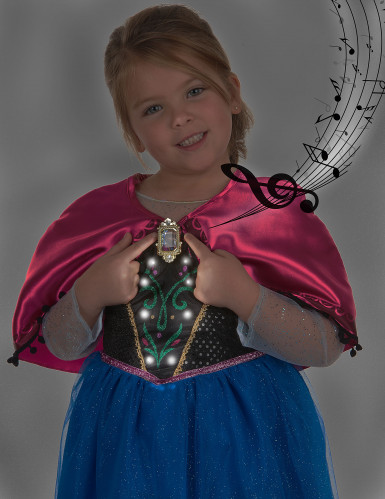 Costume sonoro deluxe da Anna Frozen™ per bambina-3