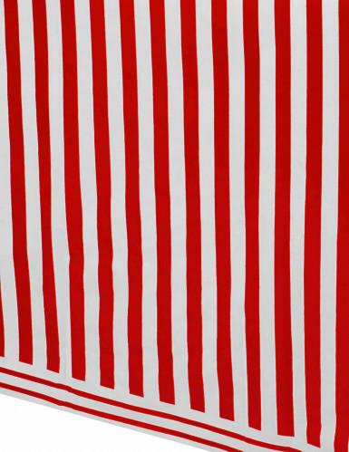 Tovaglia di plastica a righe bianca e rossa-1