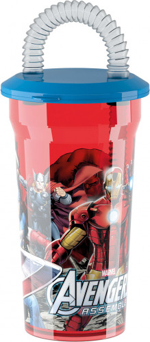 Bicchiere con cannuccia Avengers™
