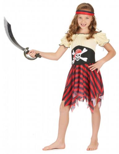 Costume da pirata con teschio per bambina-1