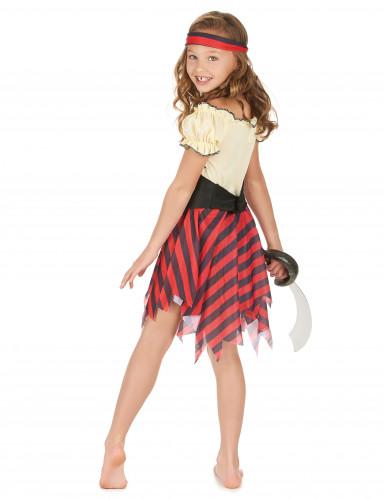 Costume da pirata con teschio per bambina-2