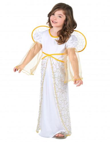 Costume angelo bambina bianco e dorato