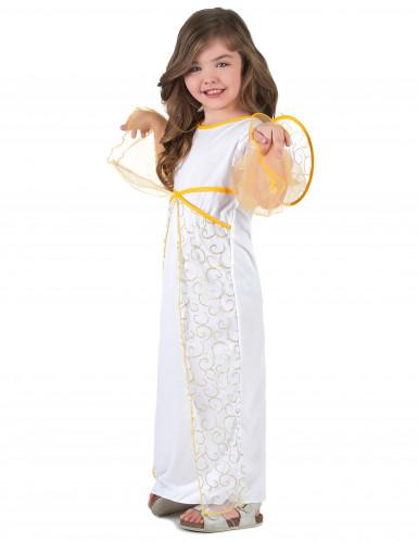 Costume angelo bambina bianco e dorato-1