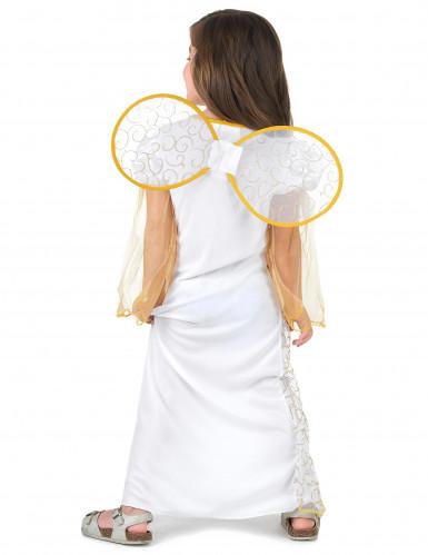 Costume angelo bambina bianco e dorato-2