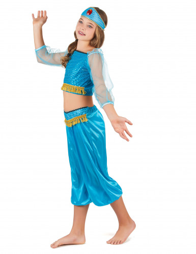 Costume odalisca azzurro bambina-1