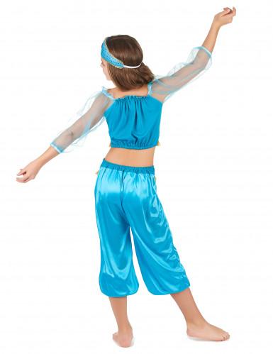 Costume odalisca azzurro bambina-2