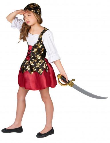 Costume da pirata con bandana per bambina-1