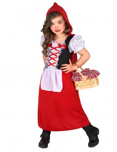 Costume da cappuccetto rosso con laccetti per bambina-1