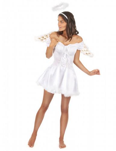 Costume da angelo con aureola per donna