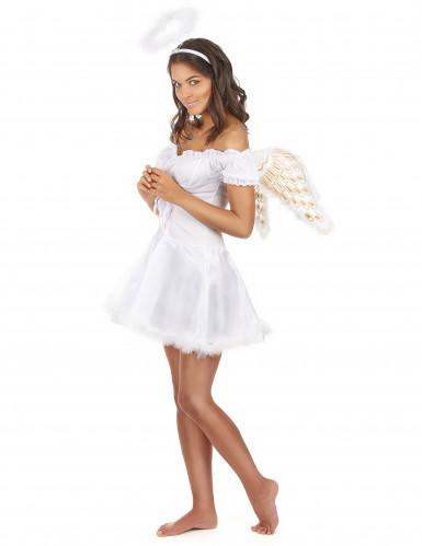Costume da angelo con aureola per donna-1