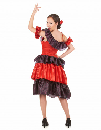 Costume ballerina di flamenco adulto-2