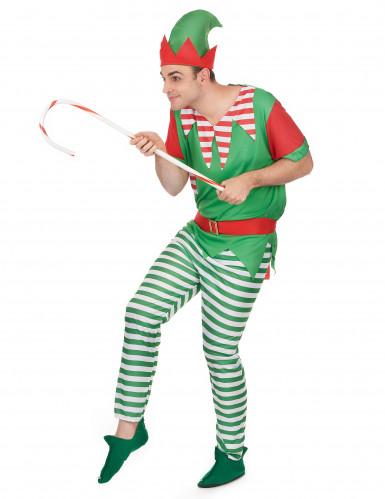 Costume elfo uomo Natale-1