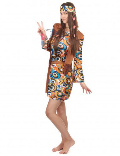 Costume Hippie con frange per donna-1
