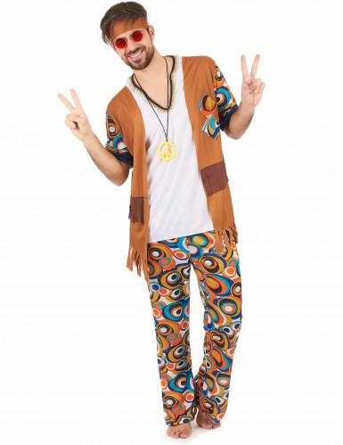 Costume hippie psicadelico per uomo
