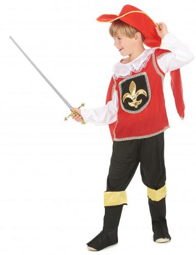 Costume Moschettiere rosso bambino-1
