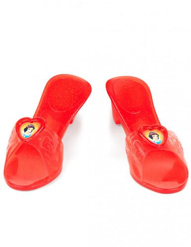 Scarpette Biancaneve™ plastica rossa trasparente bambina-1