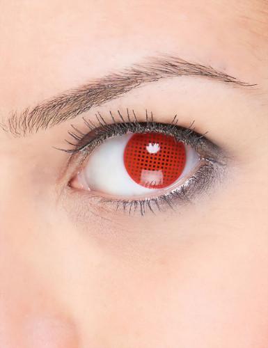 Lenti a contatto rosse pixel adulto
