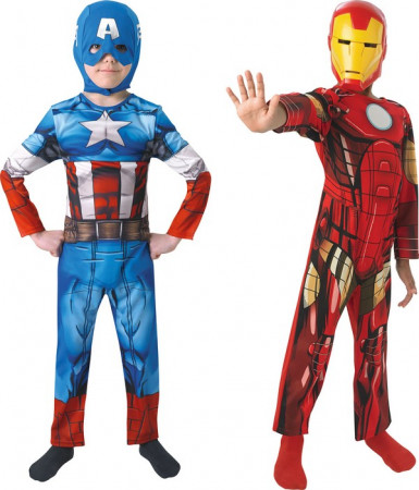 Costume coppia Capitan America™  e Iron Man™  bambino
