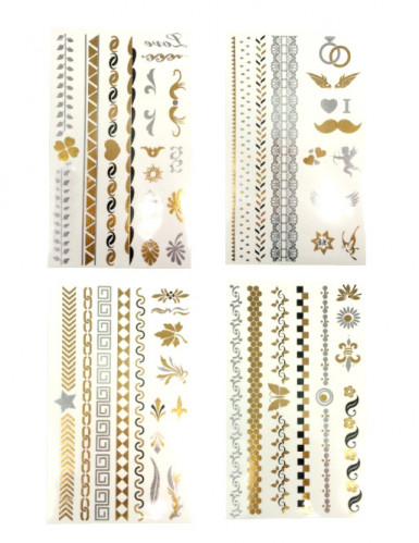 Tatuaggi temporanei Oro e Argento