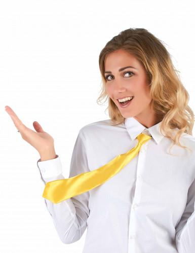 Cravatta giallo fluo adulto-1