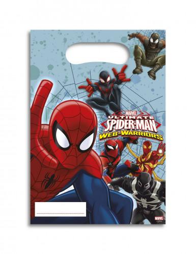 6 Sacchetti per caramelle Spiderman™