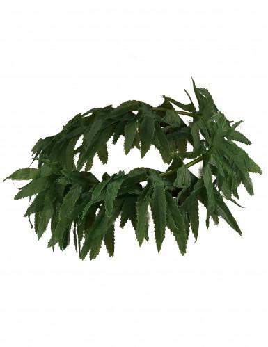 Corona con foglie tropicali