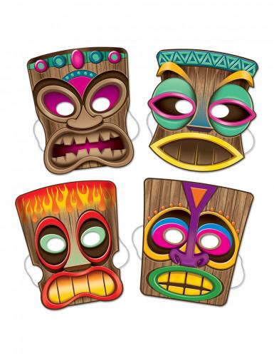 Confezione di 4 maschere tiki