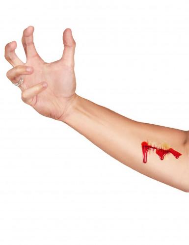 Kit trucco Halloween: tatuaggio e sangue finto-2