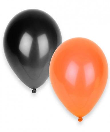 Confezione di 100 palloncini arancioni e neri