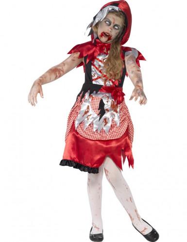 Costume zombie cappuccetto rosso bambina Halloween