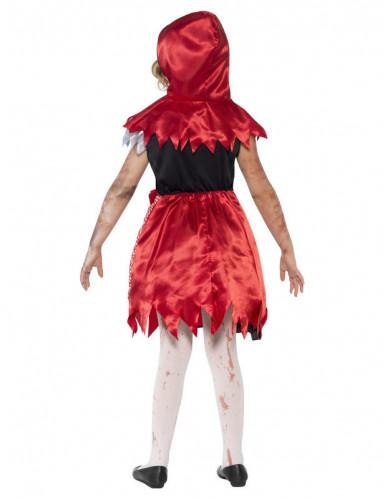 Costume zombie cappuccetto rosso bambina Halloween-1