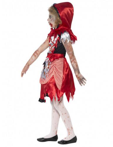 Costume zombie cappuccetto rosso bambina Halloween-2
