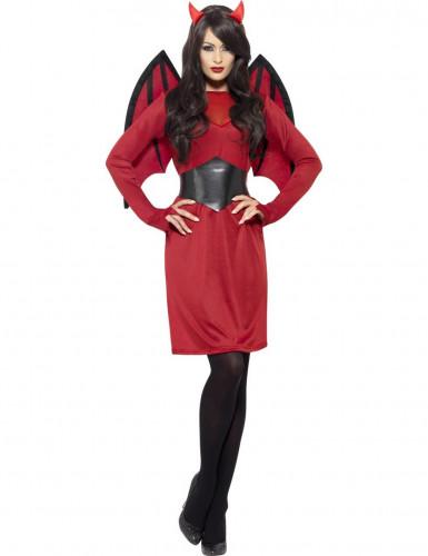 Set costume e accessori da diavolo per donna-1