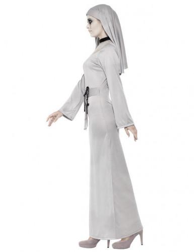 Costume suora fantasma colore grigio Halloween-1