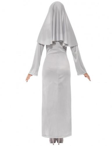 Costume suora fantasma colore grigio Halloween-2