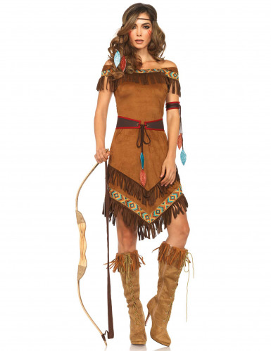 Costume da indiana d'america per donna