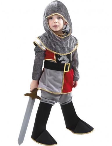 Costume cavaliere con copriscarpe per bambino