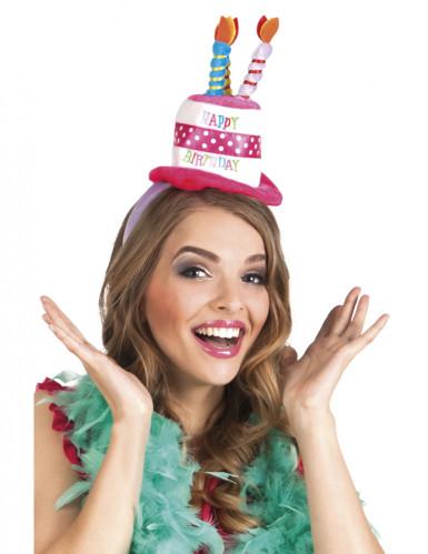 Cerchietto con cappello di compleanno per adulto