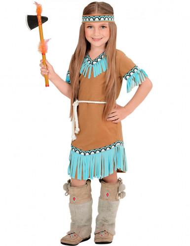 Costume da indiana bambina di colore marrone