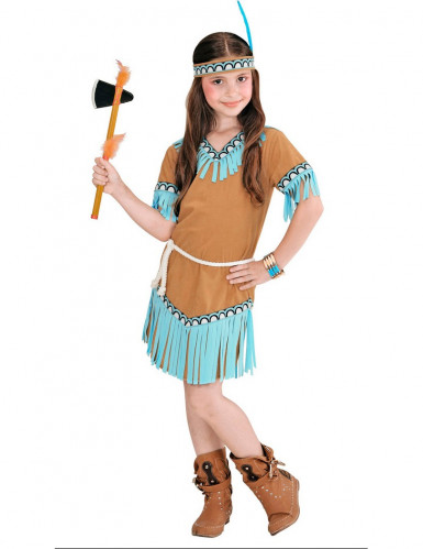 Costume da indiana bambina di colore marrone-1
