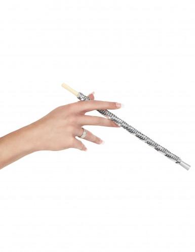 Porta sigarette paillettes argento-1