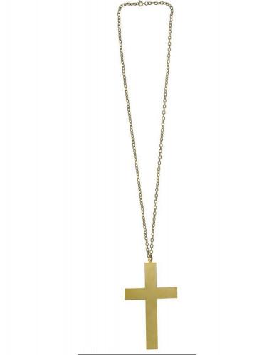 Collana da monaco croce dorata-1