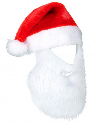 Cappello Babbo Natale con barba