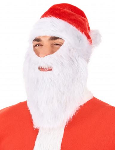 Cappello Babbo Natale con barba-1