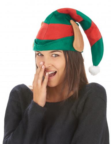 Cappello folletto di Babbo Natale con orecchie-1