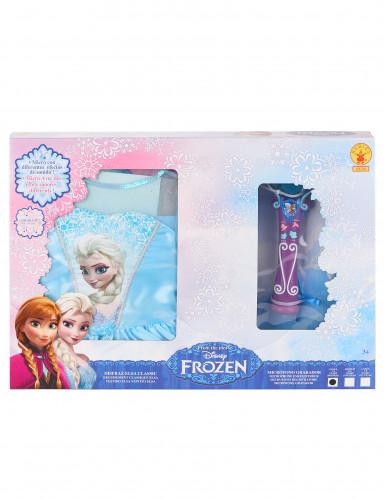 Kit travestimento classico Elsa Frozen-Il regno di Ghiaccio™ con cofanetto-1