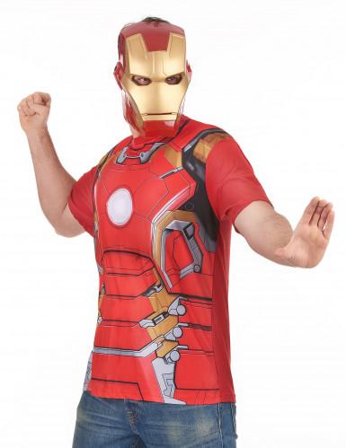 T-shirt e maschera per adulto Iron Man™