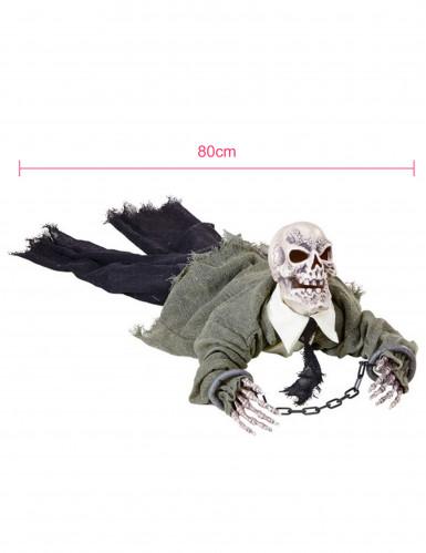 Decorazione scheletro animato, luminoso e sonoro Halloween-1