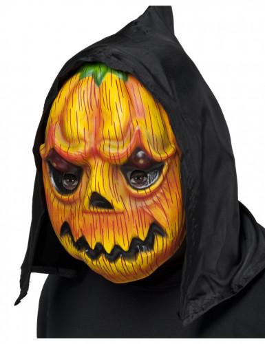 Maschera zucca con cappuccio adulto Halloween