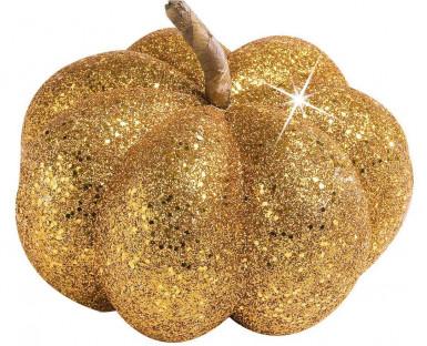 Decorazione Halloween: zucca dorata